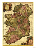 Ireland - Panoramic Map Affischer av  Lantern Press