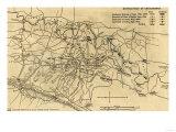 Battle of Chickamauga - Civil War Panoramic Map Prints by  Lantern Press