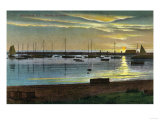 Block Island, Rhode Island - Sunrise at the Old Harbor Kunstdrucke von  Lantern Press