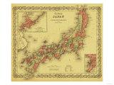 Japan - Panoramic Map Reprodukcje autor Lantern Press