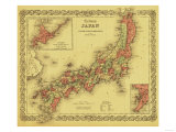 Japan - Panoramic Map Kunstdrucke