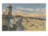 Daytona Beach, FL - Boardwalk View of Beach Prints by  Lantern Press