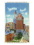 Hartford, Connecticut - Trust Bldg and Travelers Tower View Prints by  Lantern Press