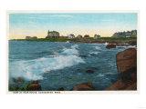 Gloucester, Massachusetts - View of Bass Rocks Surf Prints by  Lantern Press