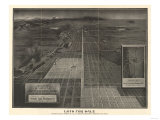 Colorado - Panoramic Map of Denver No. 4 Prints by  Lantern Press