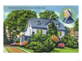 Hartford, Connecticut - Exterior View of Harriet Beecher Stowe's Residence Prints