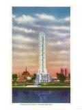 Chicago, Illinois - View of Texaco's Giant Thermometer, 1934 World's Fair Prints