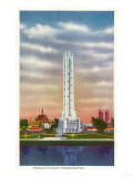 Chicago, Illinois - View of Texaco's Giant Thermometer, 1934 World's Fair Prints by  Lantern Press