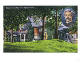 Hartford, Connecticut - Exterior View of the Mark Twain Memorial No. 2 Prints by  Lantern Press
