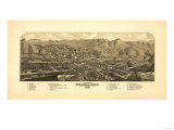 Colorado - Panoramic Map of Golden Art by  Lantern Press