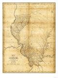 Illinois - Panoramic Map Prints