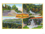 Catskill Mountains, New York - Greeting From with Scenic Views Prints by  Lantern Press