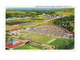 Ithaca, New York - Aerial View of Cornell University Schoellkopf Stadium Prints