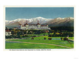 Bretton Woods, New Hampshire - View of Mt Washington Hotel, Presidential Range Prints