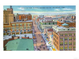 Bridgeport, Connecticut - Aerial View of Business Section of the City Prints