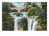 Catskill Mountains, New York - View of Haines Falls Prints