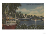 Ft. Lauderdale, FL - New River View & Drawbridge Prints