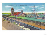 Bridgeport, Connecticut - Exterior View of the Railroad Station Prints by  Lantern Press