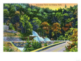 Catskill Mountains, New York - Horseshoe Curve View of Bastion Falls Prints