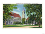 Ithaca, New York - Exterior View of Boardman Hall and the Library Art by  Lantern Press