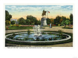 Boston, MA - Maid of the Mist Fountain, Washington Statue, Public Garden View Art by  Lantern Press