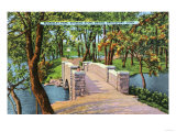 Bridgeport, Connecticut - Beardsley Park View of the Stone Bridge Art by  Lantern Press