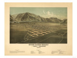 Idaho - Panoramic Map of Hailey Prints by  Lantern Press