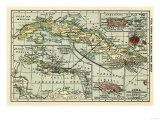 Cuba - Panoramic Map Prints