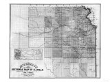 Kansas - Panoramic Map Kunstdrucke von  Lantern Press