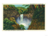 Ithaca, New York - View of Taughannock Falls, 215 Feet High Prints