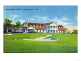 Bridgeport, Connecticut - Exterior View of the Brooklawn Country Club Prints by  Lantern Press