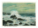 Casco Bay, Maine - View of the Surf and Beach Rocks Prints by  Lantern Press