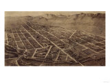 Colorado - Panoramic Map of Fort Collins No. 2 Prints by  Lantern Press