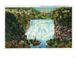 Ithaca, New York - Fall Creek Gorge View, Ithaca Falls Scene Prints