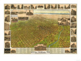 Colorado - Panoramic Map of Denver No. 5 Prints