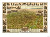 Colorado - Panoramic Map of Denver No. 5 Prints