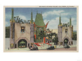 Hollywood, CA - View of Grauman's Chinese Theatre Prints by  Lantern Press