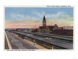 Cheyenne, WY - Union Pacific Railroad Station View Prints by  Lantern Press
