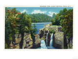 Ithaca, New York - View of Trihammer Falls, Cornell University Prints by  Lantern Press