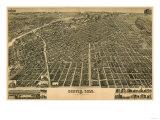 Colorado - Panoramic Map of Denver No. 3 Art