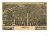 Colorado - Panoramic Map of Denver No. 3 Art by  Lantern Press