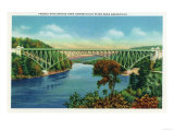 Greenfield, Massachusetts - View of French King Bridge over Connecticut River Art by  Lantern Press