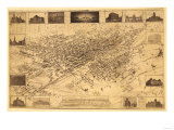 Colorado - Panoramic Map of Denver No. 1 Poster