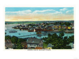 Boothbay, Maine - Aerial View of the Boothbay Harbor Prints by  Lantern Press