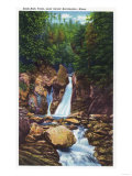 Berkshire Mountains, MA - View of Bash-Bish Falls near Great Barrington Prints
