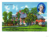Hartford, Connecticut - Exterior View of the Mark Twain Memorial Prints by  Lantern Press