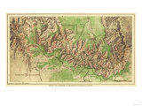 Grand Canyon National Park - Panoramic Map Prints by  Lantern Press