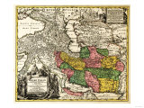 Iran - Panoramic Map Print