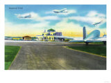 Hartford, Connecticut - View of Brainard Field, Planes Landing and Departing Prints by  Lantern Press