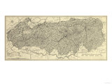 Great Smoky Mountains National Park - Panoramic Map Prints by  Lantern Press